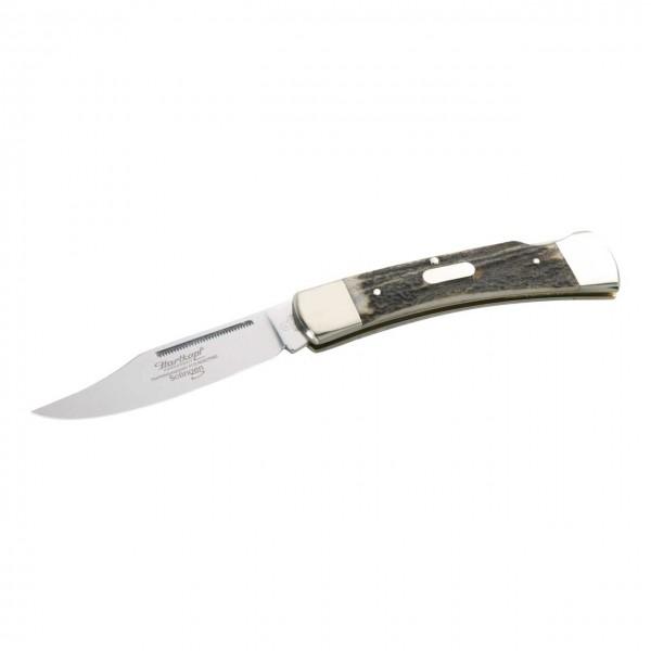 Taschenmesser, Stahl 1.4110, HirschhornSchalen,